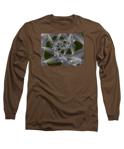 Long Sleeve T-Shirt featuring the digital art Silverleaves by Karin Kuhlmann