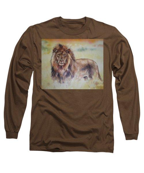 Long Sleeve T-Shirt featuring the painting Simba by Sandra Phryce-Jones