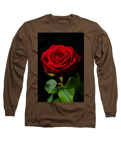 Single Rose Long Sleeve T-Shirt