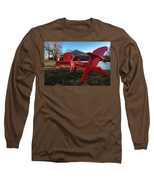 Sitting By The Lake Long Sleeve T-Shirt by Steve Hurt