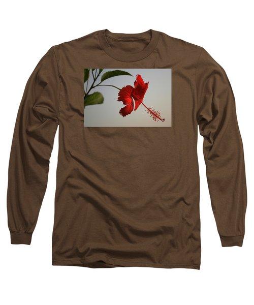 Skc 0450 Vibrant Hibiscus Long Sleeve T-Shirt