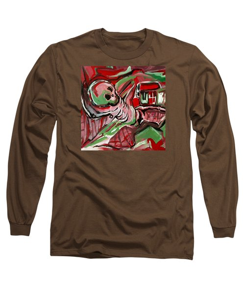 Long Sleeve T-Shirt featuring the painting Skeleton by Helen Syron