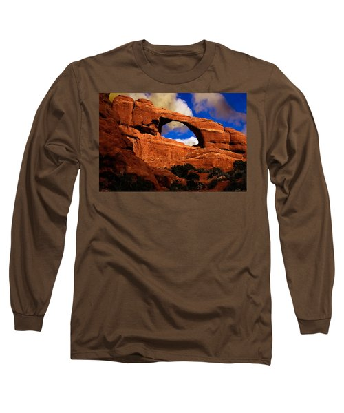 Long Sleeve T-Shirt featuring the photograph Skyline Arch by Harry Spitz