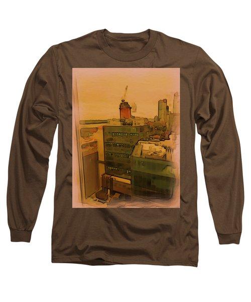 Skyline Crain Long Sleeve T-Shirt
