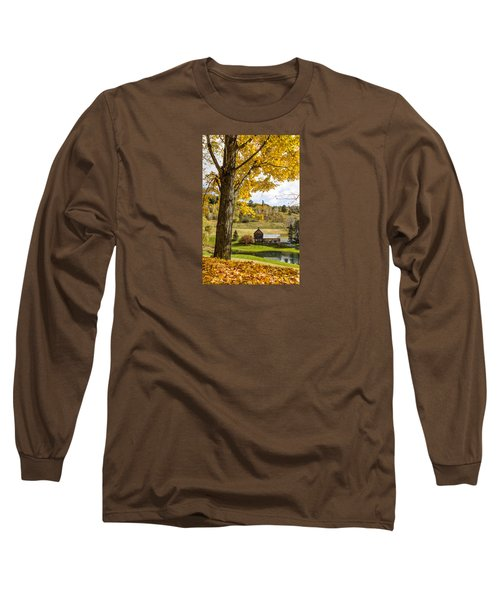 Long Sleeve T-Shirt featuring the photograph Sleep Hollow Farm Woodstock Vt by Betty Denise