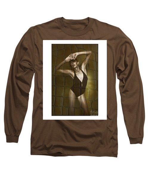 Slim Girl In Bathing Suit Long Sleeve T-Shirt
