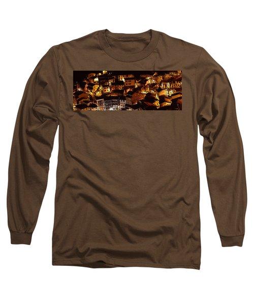 Small Village Long Sleeve T-Shirt by Thomas M Pikolin