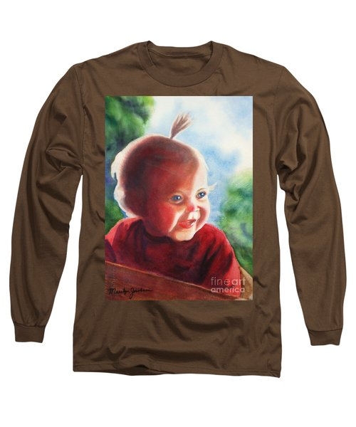 Long Sleeve T-Shirt featuring the painting Smile by Marilyn Jacobson