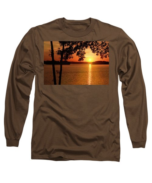 Smith Mountain Lake Silhouette Sunset Long Sleeve T-Shirt