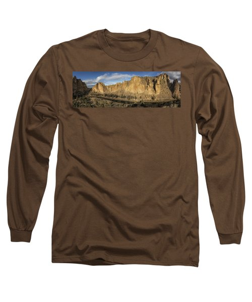 Smith Rock And Crooked River Panorama Long Sleeve T-Shirt