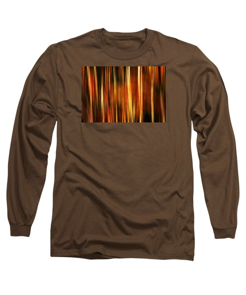 Smoky Mountains Fall Colors Digital Abstracts Motion Blur Long Sleeve T-Shirt by Rich Franco