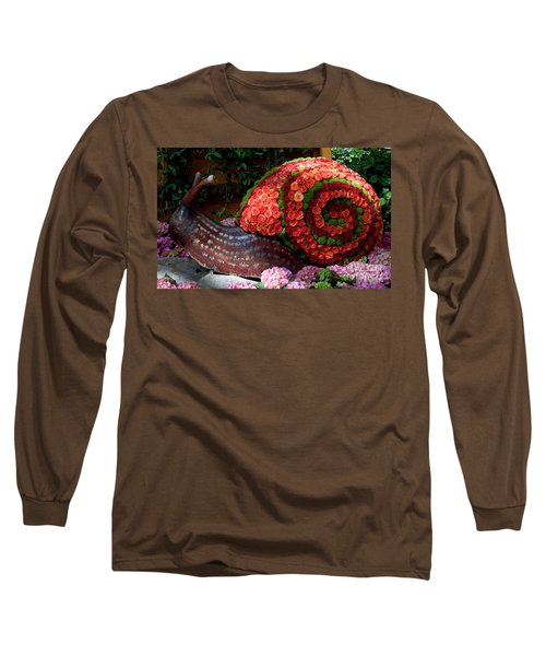 Snail With Flowers Long Sleeve T-Shirt