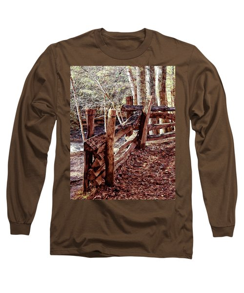Long Sleeve T-Shirt featuring the photograph Snake Fence by B Wayne Mullins