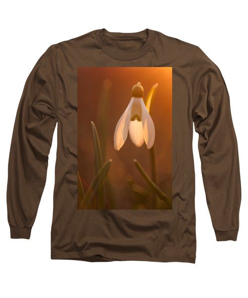 Long Sleeve T-Shirt featuring the photograph Snowdrop by Davorin Mance