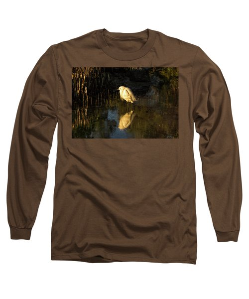 Snowy Kissed By Last Light Long Sleeve T-Shirt