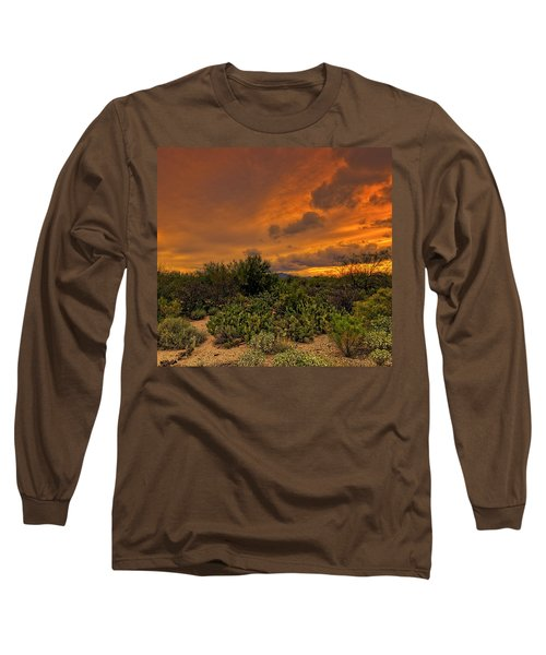 Long Sleeve T-Shirt featuring the photograph Sonoran Sunset H4 by Mark Myhaver