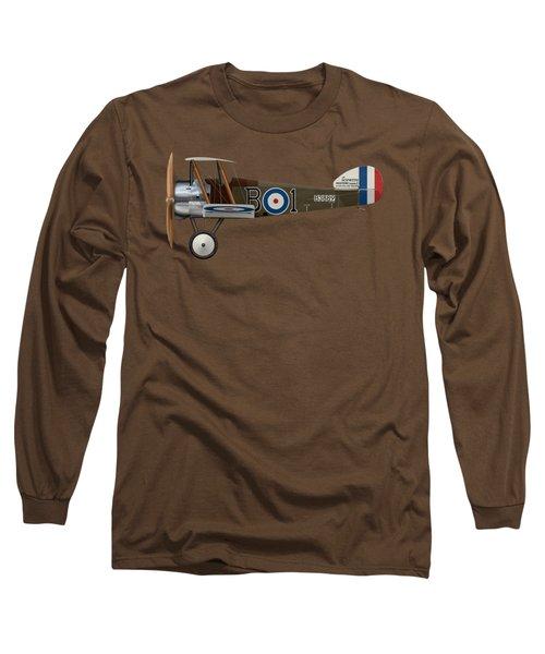 Sopwith Camel - B3889 - Side Profile View Long Sleeve T-Shirt