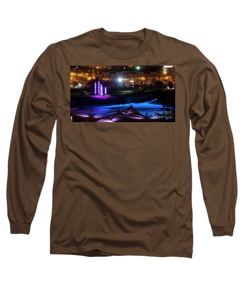 Long Sleeve T-Shirt featuring the photograph South Bend River Night by Brian Jones