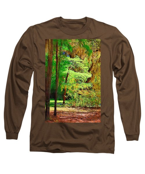 Long Sleeve T-Shirt featuring the photograph Southern Forest by Donna Bentley