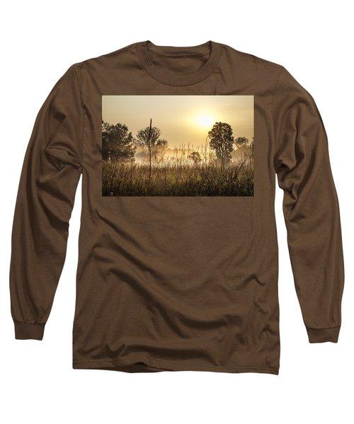Southern Michigan Foggy Morning  Long Sleeve T-Shirt