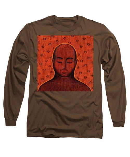 Long Sleeve T-Shirt featuring the mixed media Spacious Awareness by Gloria Rothrock