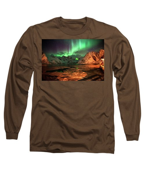 Spectacular Night In Lofoten 1 Long Sleeve T-Shirt
