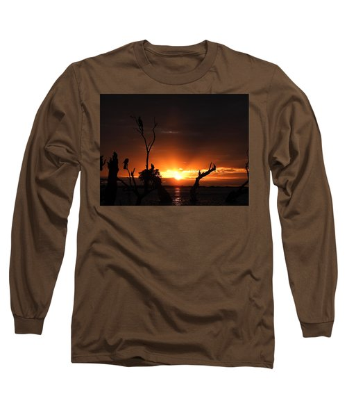 Spectacular Sunset Long Sleeve T-Shirt by Betty-Anne McDonald