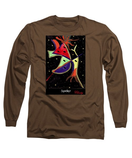 Long Sleeve T-Shirt featuring the painting Spider by Clarity Artists