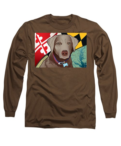 Spike, The Maryland Silver Lab Long Sleeve T-Shirt