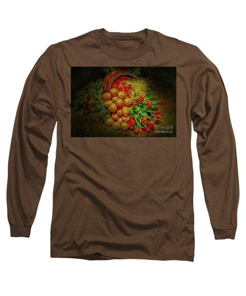 Spilled Barrel Bouquet Long Sleeve T-Shirt by Sandy Moulder