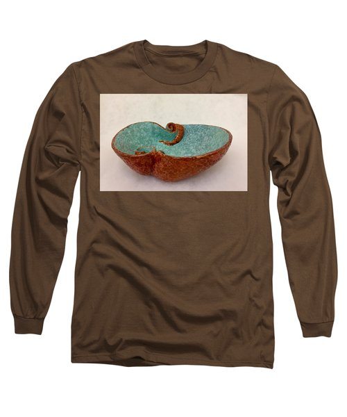 Spiral Bowl In Red And Aqua Long Sleeve T-Shirt
