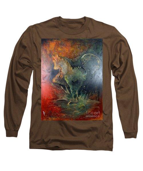 Spirit Of Mustang Long Sleeve T-Shirt by Farzali Babekhan