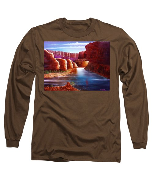 Spirits Of The River Long Sleeve T-Shirt by Gene Gregory