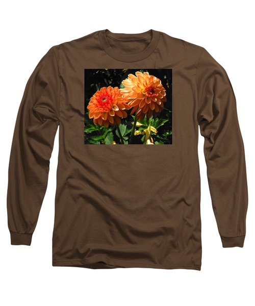 Splendor Of Fall Dahlias  Long Sleeve T-Shirt