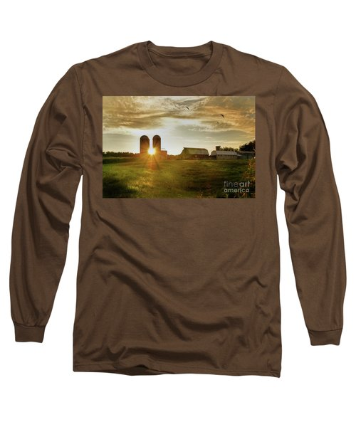 Split Silo Sunset Long Sleeve T-Shirt by Benanne Stiens