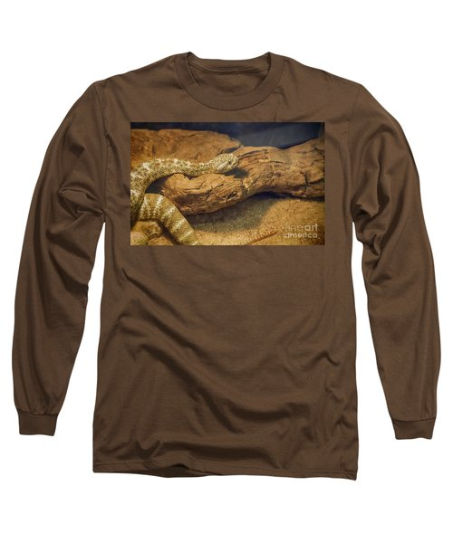 Spotted Rattlesnake   Blue Phase Long Sleeve T-Shirt by Anne Rodkin