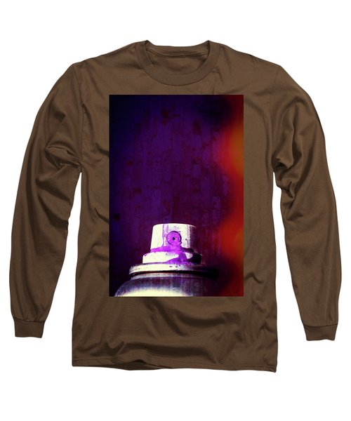Long Sleeve T-Shirt featuring the mixed media Sprayed by Karol Livote