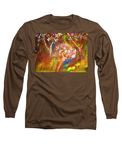 Long Sleeve T-Shirt featuring the painting Spring Blossom by Winsome Gunning