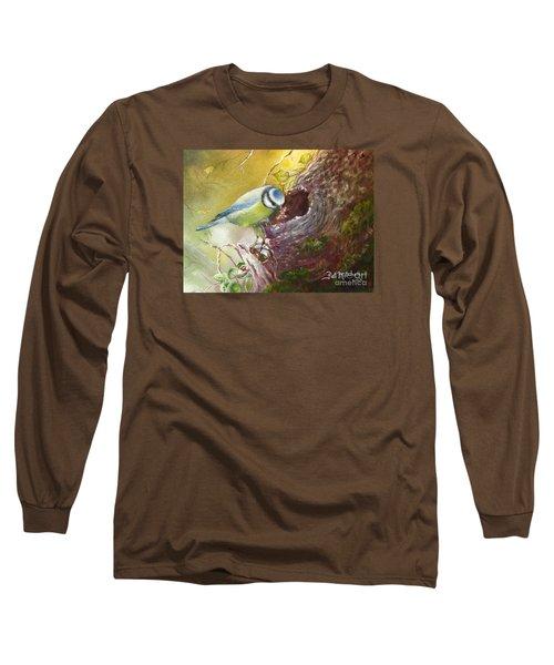 Spring Feeding Long Sleeve T-Shirt by Patricia Schneider Mitchell