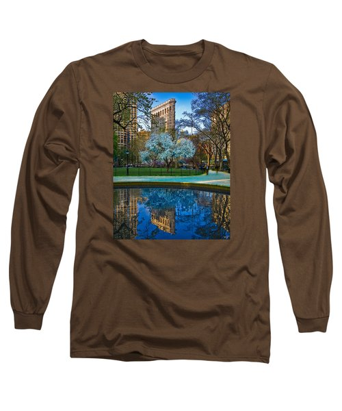 Spring In Madison Square Park Long Sleeve T-Shirt by Chris Lord