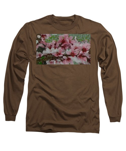 Spring Peach Blossoms Long Sleeve T-Shirt by Donna G Smith