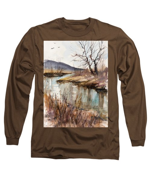 Spring Is Blushing Long Sleeve T-Shirt by Judith Levins