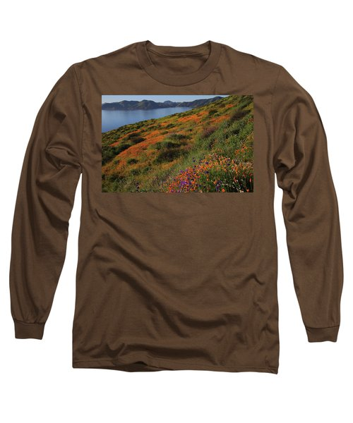 Long Sleeve T-Shirt featuring the photograph Spring Wildflower Season At Diamond Lake In California by Jetson Nguyen