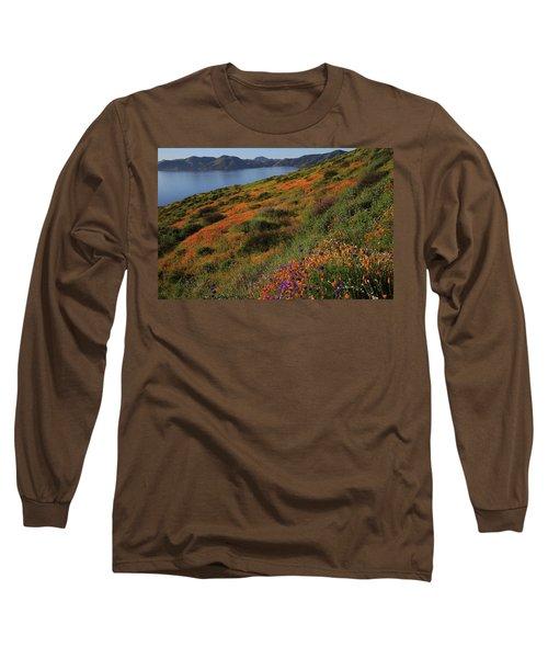 Spring Wildflower Season At Diamond Lake In California Long Sleeve T-Shirt