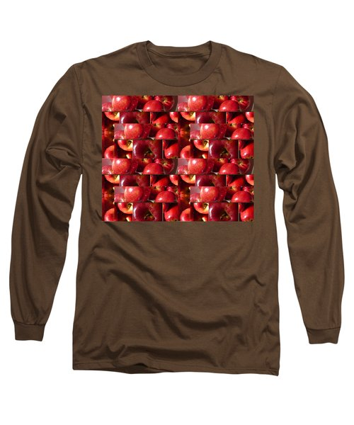 Square Apples Long Sleeve T-Shirt by Tina M Wenger