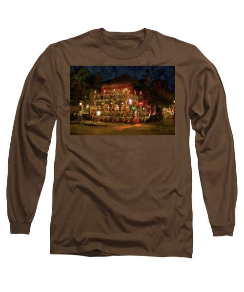 Long Sleeve T-Shirt featuring the photograph  St. Augustine Meehan's Pub by Louis Ferreira