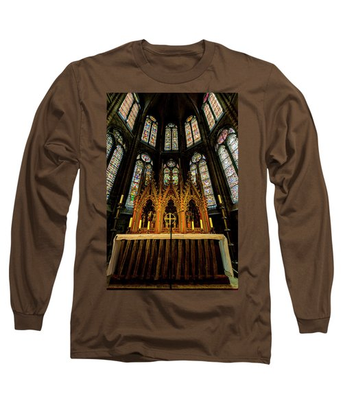 Long Sleeve T-Shirt featuring the photograph St. Elizabeth Church by David Morefield