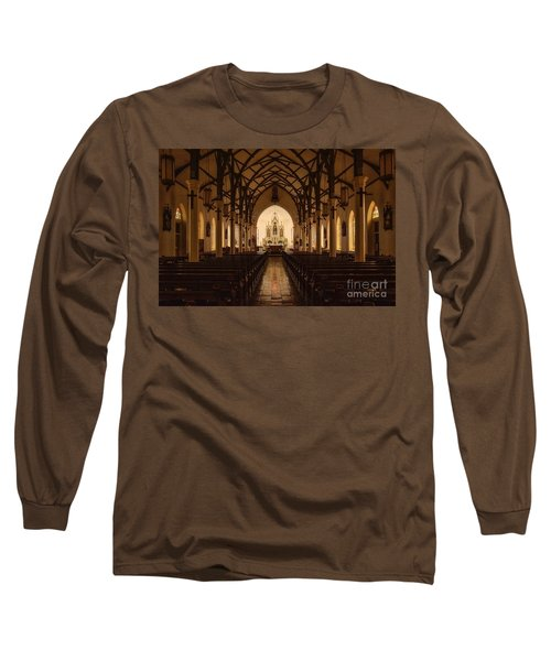 St. Louis Catholic Church Of Castroville Texas Long Sleeve T-Shirt