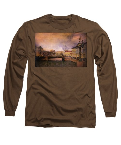 St Petersburg Canal Long Sleeve T-Shirt by Jeff Burgess