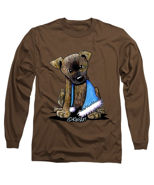 Staffordshire Bull Terrier Brindle Pup Long Sleeve T-Shirt